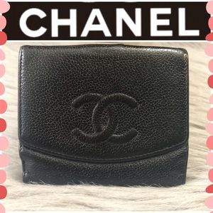 💕HP💕Authentic Chanel Leather wallet